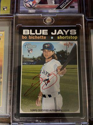 15 Rookie Card Bo Bichette MLB Baseball Lot !!! RARE Red Ink /71 Auto! for Sale in Dallas, TX