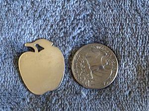 Tiffany&co Sterling silver apple pendant for Sale in Lincoln Park, MI