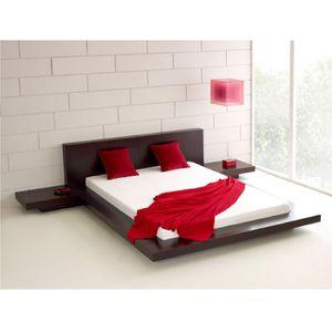 Queen Modern Platform Bed w- Headboard and 2 Nightstands in Espresso for Sale in Washington, IN