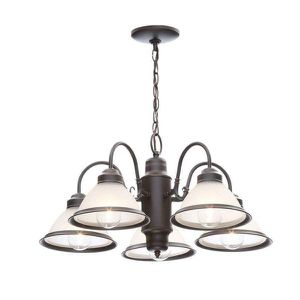 Rustic 5-Light Oil Rubbed Bronze Chandelier For Indoor Living Room Kitchen Bedroom Office for Sale in Carrollton, TX