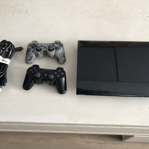 PS3 With Power Cord HDMI and 2 Controllers for Sale in Gilbert, AZ