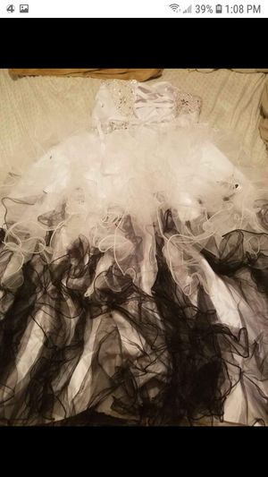Gothic Princess Black n White wedding dress corset and veil for Sale in Easley, SC
