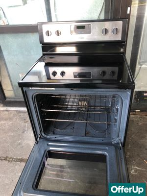 🚀🚀🚀Stainless Steel Electric Stove Oven Whirlpool Glass Top #836🚀🚀🚀 for Sale in Sanford, FL