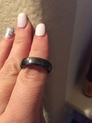 Mans wedding ring black size 12 for Sale in Buda, TX