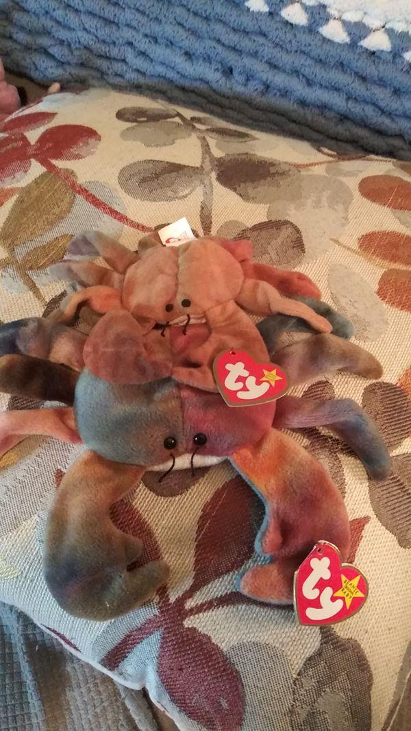 Ty Beanie Babies Very Rare Claude the Crab