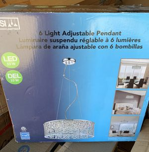 Crystal chandelier light for Sale in Sacramento, CA