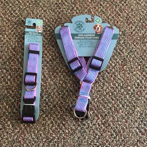Medium Dog Collar&Harness Set for Sale in Whittier, CA