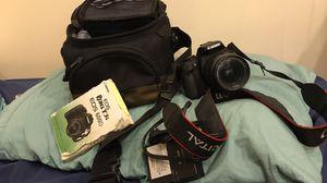 Black Canon Dslr camera with bag for Sale in Philadelphia, PA