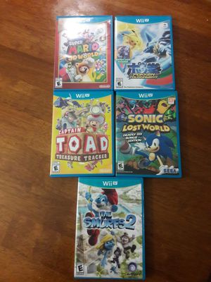 Nintendo Wii U 32 GB console with game pad + 5 games for Sale in Burbank, CA
