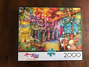 Buffalo Games Tiki Beach Sunset 2000 Piece Jigsaw Puzzle for Sale in Everett, MA