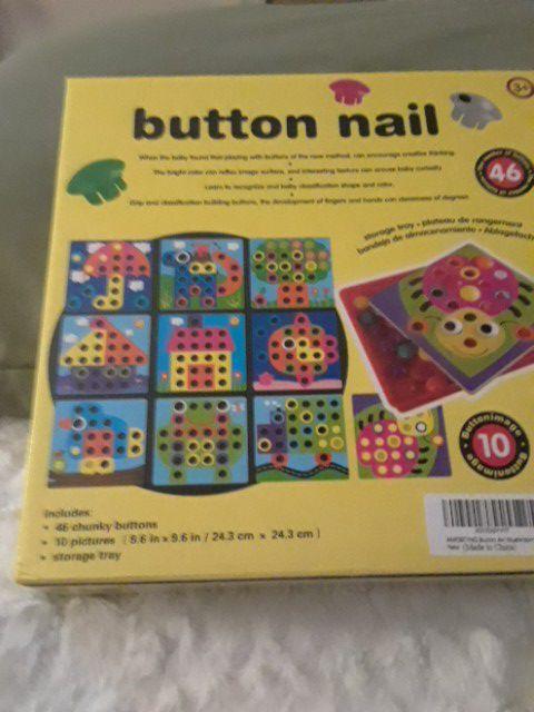 Button Nail Art Craft Game