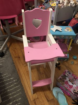 Baby doll high chair seat pink/white for Sale in Lakewood, CA