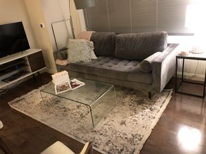 Tempered glass coffee table, clear for Sale in Boston, MA