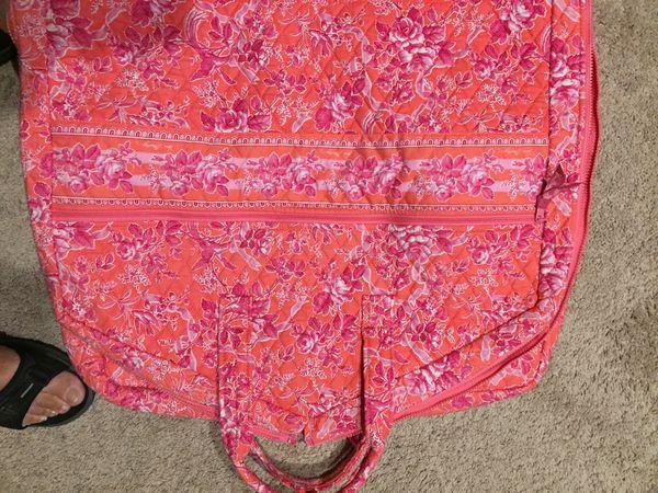 Vera Bradley garment bag and duffel bag.
