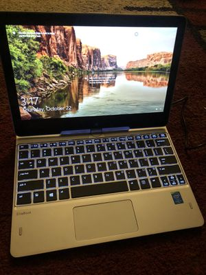 HP Revolve 810 g3, 2 in 1 touch, Windows 10, 256gb SSD nvme, 8gb RAM, (4g LTE capable) for Sale in Sacramento, CA