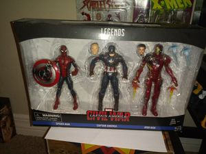Marvel Legends Civil war 3 pack for Sale in Tampa, FL