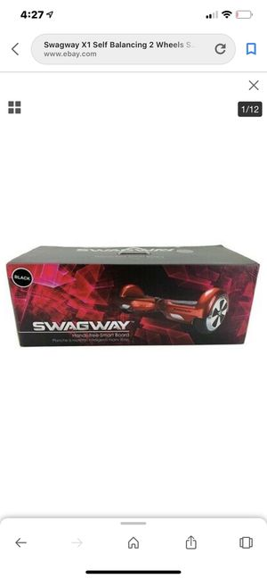 Swagway handsfree smart board hover boards in red garnet for Sale in Downey, CA