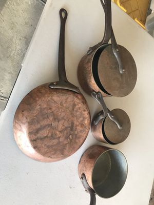 Copper pots and pan for Sale in Tempe, AZ