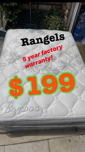 """BRAND NEW """"LUXURY EURO PILLOW TOP BAMBOO"""" MATTRESSES 💯 COLCHONES NUEVOS PILLOW TOP 💯5 YEAR FACTORY WARRANTY!!! 💥12 inches thick 💥 Queen $200❌ $260 for Sale in La Mirada, CA"""