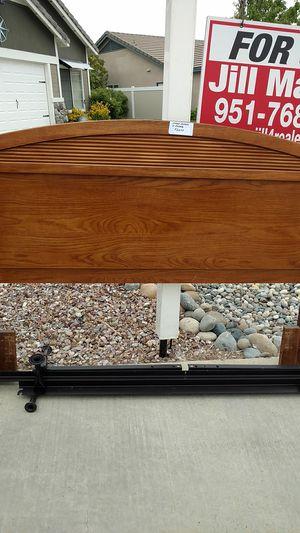Queen size wood headboard and frame for Sale in Winchester, CA