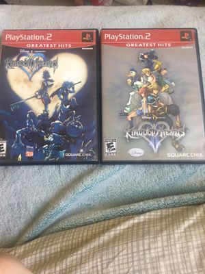 Kingdom hearts 1 & 2 for ps2 for Sale in Camas, WA