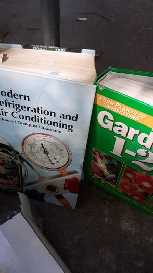Modern refrigeration and air conditioning gardening books for Sale in Alexandria, LA