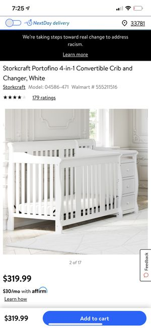 Crib with changing table for Sale in St. Petersburg, FL