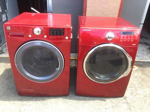 Washer and electric dryer set red for Sale in San Lorenzo, CA