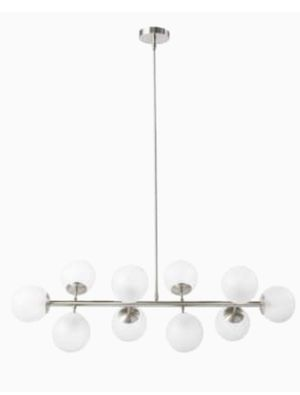 Scott Living Lyla Brushed Nickel Modern/Contemporary Frosted Glass Linear Kitchen Island Light retail $199 for Sale in Reynoldsburg, OH