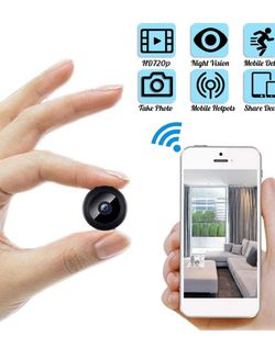 Mini WiFi Spy Camera HD 1080P Wireless Hidden Camera Video Camera Small Nanny Cam with Night Vision and Motion Activated Indoor Use Security Cameras S for Sale in Norco,  CA