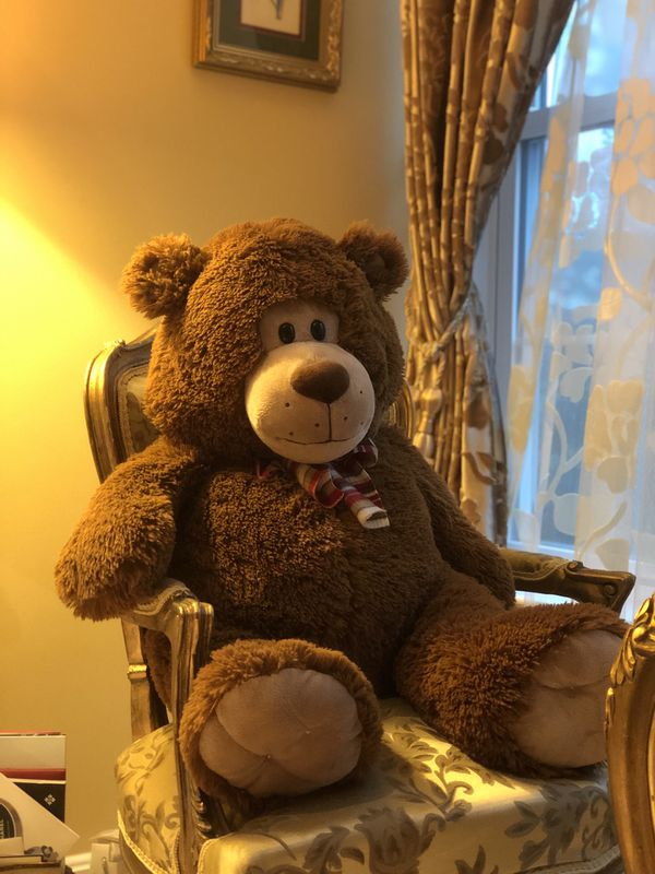 "Dan Dee Teddy Bear 18"" Bow Stuffed Plush"