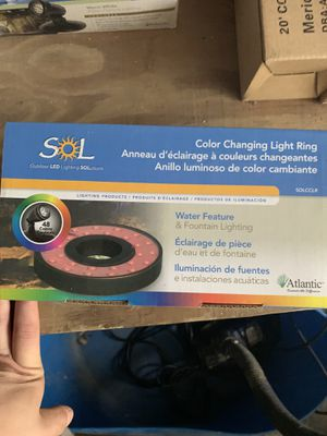 LED color changing light ring for Sale in Morgantown, WV