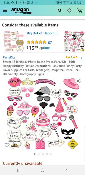Sweet 16 photo booth props for Sale in Denver, CO