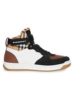 Burberry Dennis High-Top Vintage Check Sneakers. Size 43 for Sale in Fountain Valley, CA