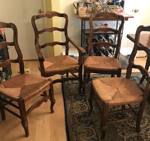 Four French Lateral Solid Wood Antique Chairs for Sale in Santa Monica, CA