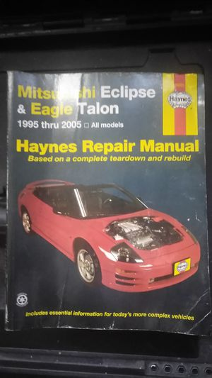 Haynes repair manual 4 Mitsubishi Eclipse for Sale in Sacramento, CA