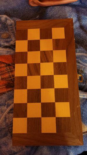 Wooden chessboard for Sale in Monroe, MI
