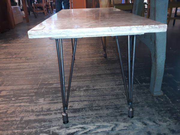 Antique salvaged marble coffee table