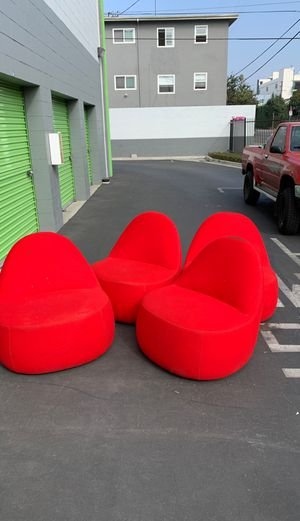 4 RED CHAIRS for Sale in Los Angeles, CA