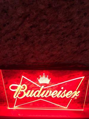 Budweiser LED sign Budweiser sign Budweiser light up sign Budweiser neon sign Budweiser tin sign Budweiser jacket Budweiser hat Budweiser T-shirt for Sale in La Habra Heights, CA
