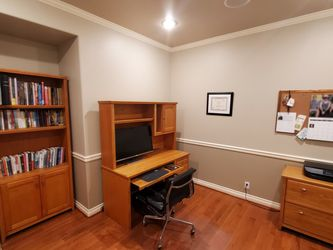 Beautiful Solid Wood Office Set (Desk, Hutch, Cabinet, Bookcase) for Sale in Issaquah,  WA