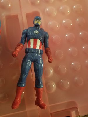 Captain America action figure and plush spiderman for Sale in Baltimore, MD