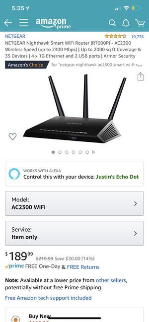 Netgear Nighthawk smart router for Sale in Saginaw, TX