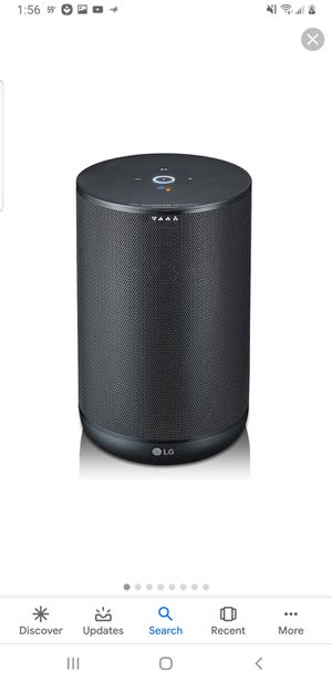 LG ThinQ Smart Speaker with Google Assistant - Black (WK7) for Sale in Manchester, NH