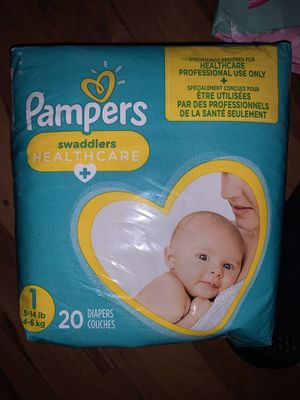 Pampers size 1 pack of 20...... 5 packs of 20 and 2 packs of luvs for 30 for Sale in Garden Grove, CA