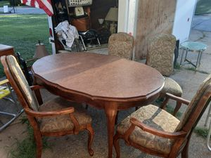 VINTAGE Table and Chairs Has Nice Cover For Top Of Table for Sale in Arnold, MO