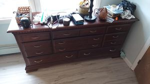 Cherry Dresser with mirror for Sale in Ocean Gate, NJ