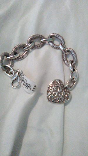 Brighton heart bracelet with silk bag for Sale in North Las Vegas, NV