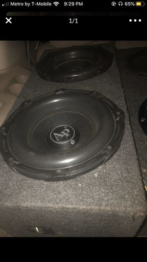 2 12 Audiopipe and amp for Sale in Detroit, MI