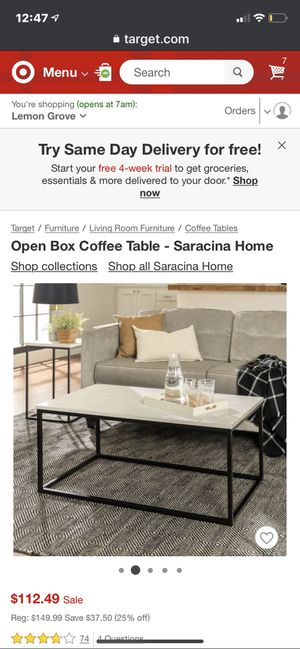 Open box deal/marble coffee table for Sale in Carlsbad, CA